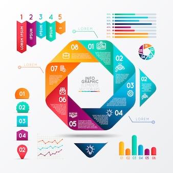 Infographie éléments vectoriels eps