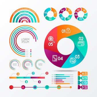 Infographie éléments vectoriels pour les projets