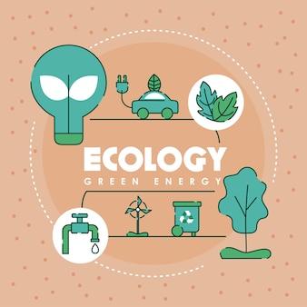 Infographie de l'énergie verte écologique