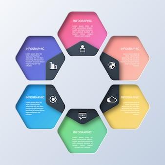Infographie d'entreprise colorée