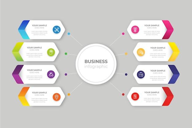 Infographie d'entreprise dégradé