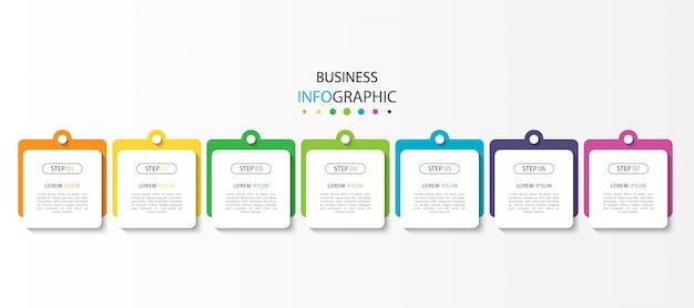 Infographie d'entreprise avec étapes ou options