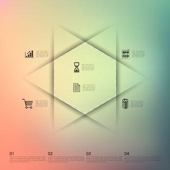 Infographie de l'entreprise avec fond flou