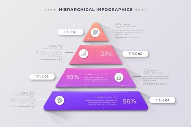 Infographie d'entreprise hiérarchique