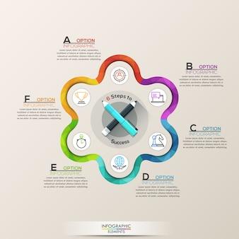 Infographie de l'entreprise avec des icônes