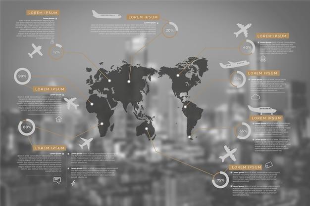 Infographie d'entreprise avec image