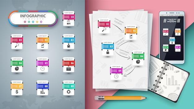 Infographie de l'entreprise. maquette pour votre idée