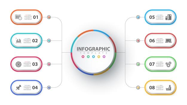 Infographie de l'entreprise. modèle d'origami en papier
