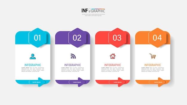 Infographie d'entreprise en quatre étapes