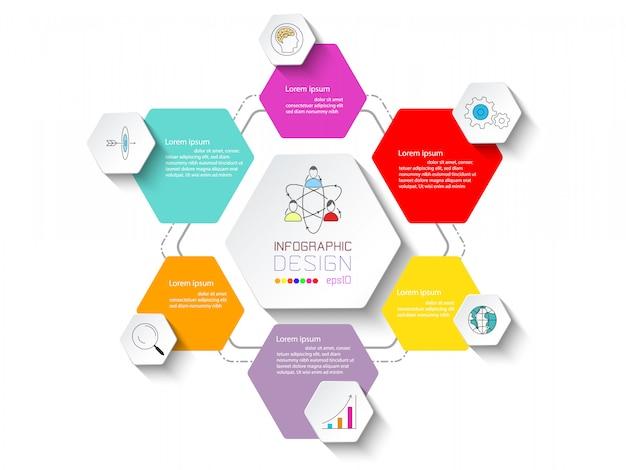 Infographie des entreprises en 6 étapes.