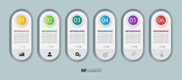 Infographie des entreprises modernes 6 étapes
