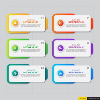 Infographie des entreprises modernes 6 options