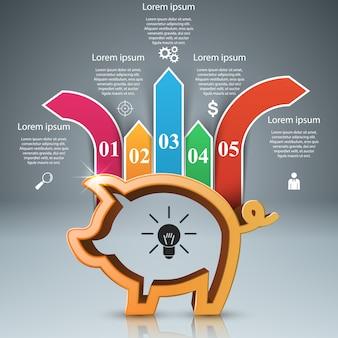 Infographie des entreprises.