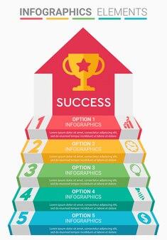 Infographie escalier d'affaires