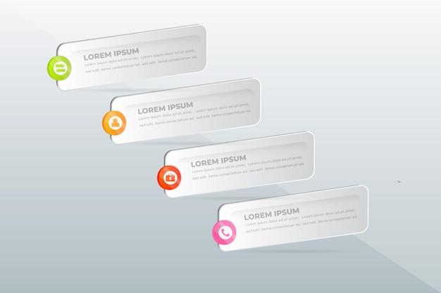 Infographie des étapes professionnelles modernes
