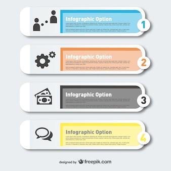 Infographie étiquettes modernes options de vecteur