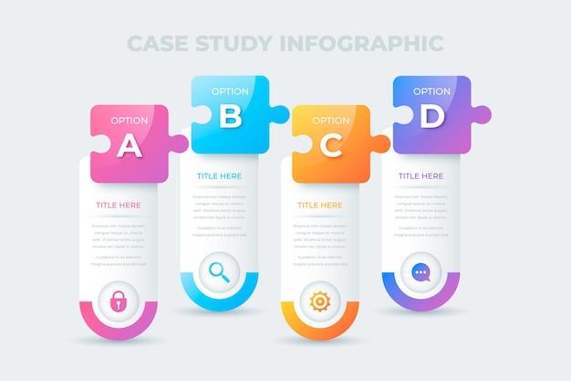 Infographie d'étude de cas de dégradé