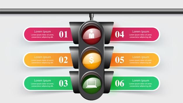 Infographie de feux de circulation