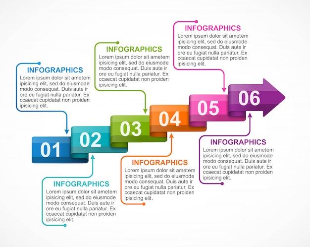 Infographie avec flèches.