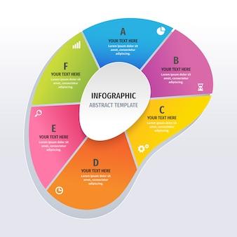 Infographie de forme abstraite colorée