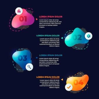 Infographie de forme abstraite dégradé
