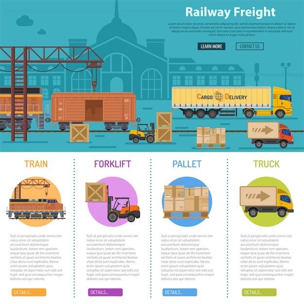 Infographie de fret ferroviaire