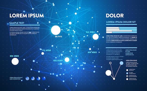 Infographie futuriste. conception esthétique de l'information.
