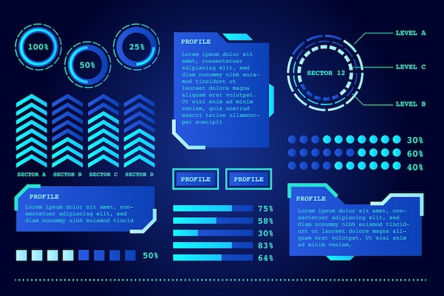 Infographie futuriste
