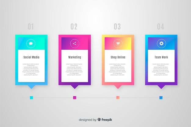 Infographie de gradient d'affaires