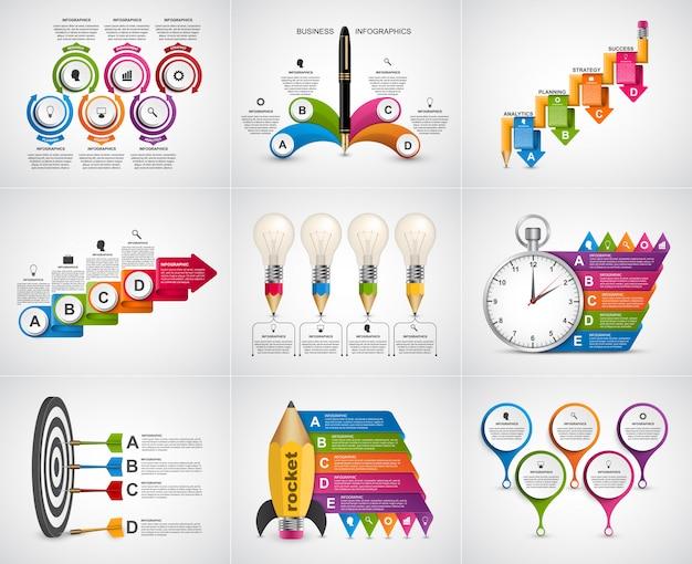 Infographie de grande collection. éléments de design.