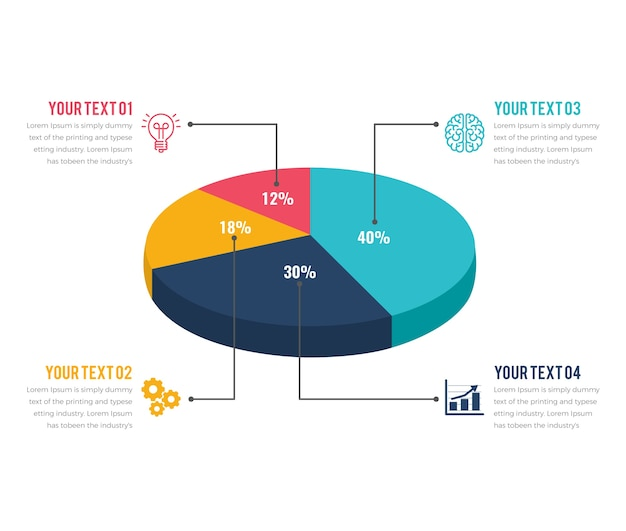 Infographie graphique 3d moderne
