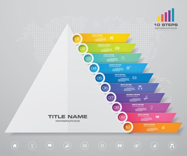 Infographie graphique pyramide
