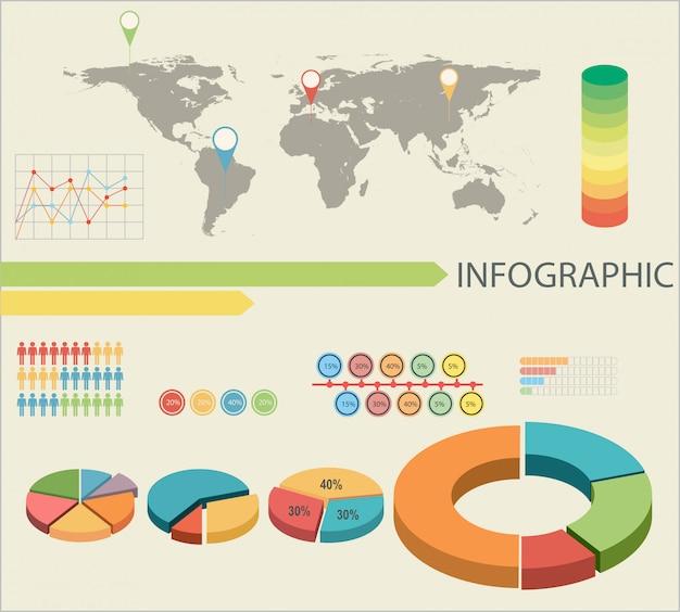 Une infographie avec des graphiques en secteurs