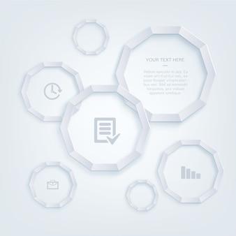 Infographie et les icônes de bureau modèle