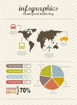 Infographie d'illustration vectorielle de voyage style vintage