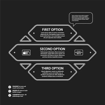Infographie infographique de forme géométrique