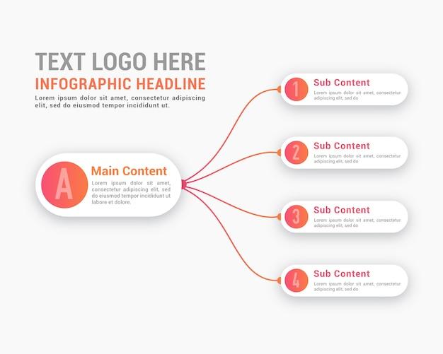 Infographie légère minimaliste