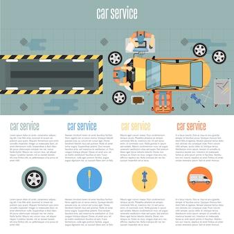 Infographie de magasin de voiture