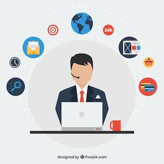 Infographie marketing d'affaires