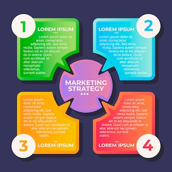 Infographie de marketing coloré design plat