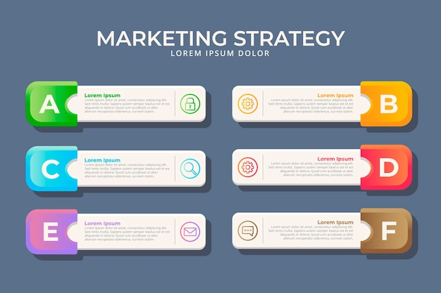 Infographie marketing design plat
