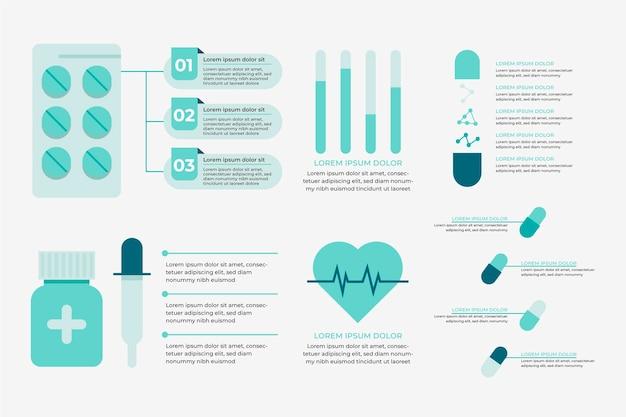 Infographie de médecine design plat