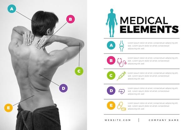 Infographie médical avec image