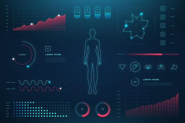 Infographie médicale futuriste avec détails