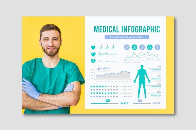 Infographie médicale avec médecin