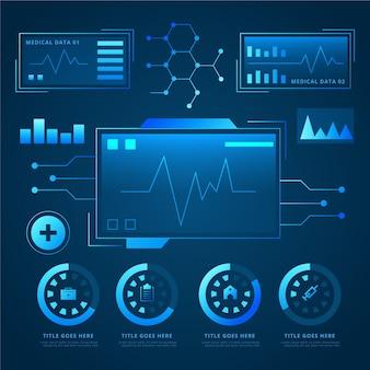 Infographie médicale de technologie futuriste