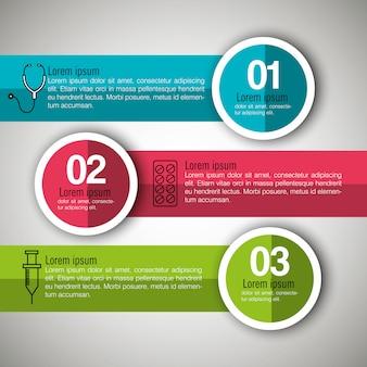 Infographie médicale en trois étapes
