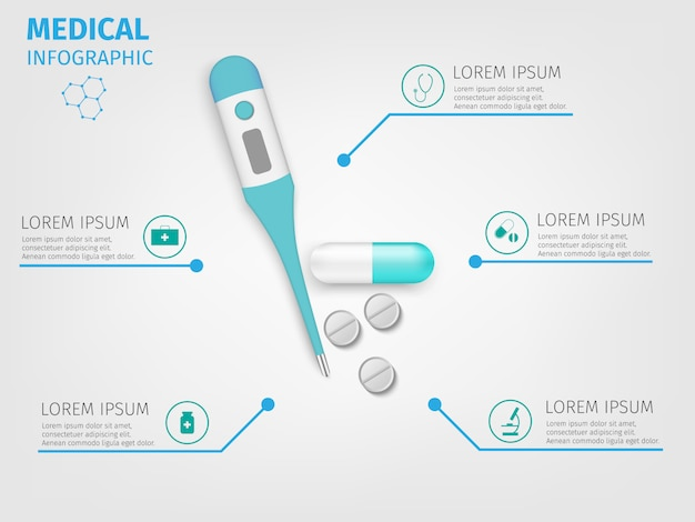 Infographie médicale.