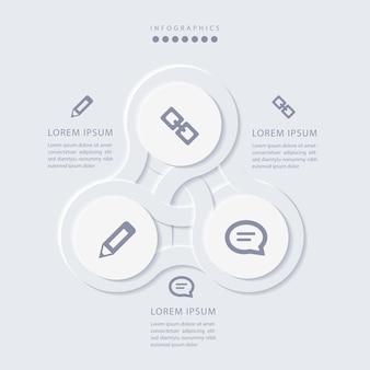 Infographie minimaliste élégante en 3 étapes