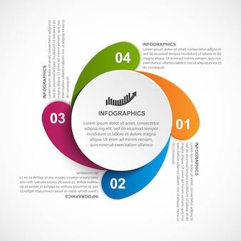 Infographie de modèle infographique moderne